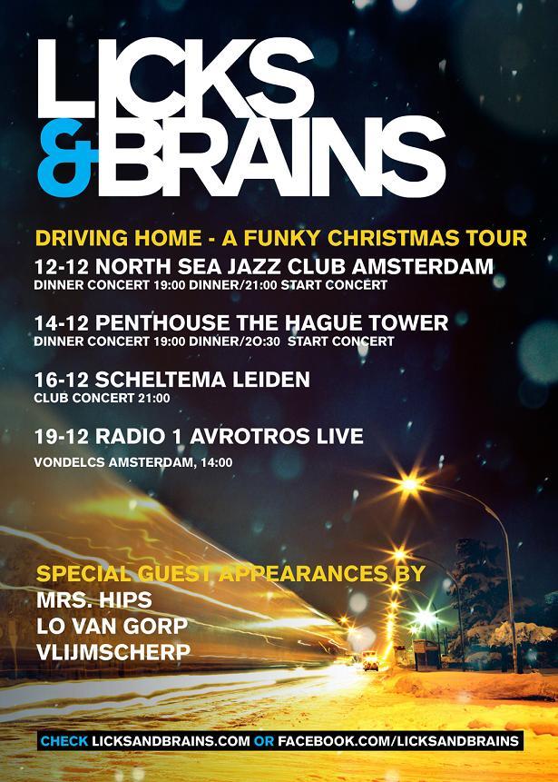 Licks & Brains Kerst Tour