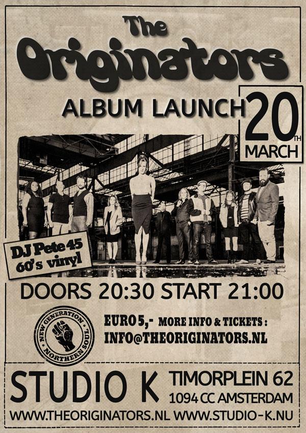 Album presentatie The Originators